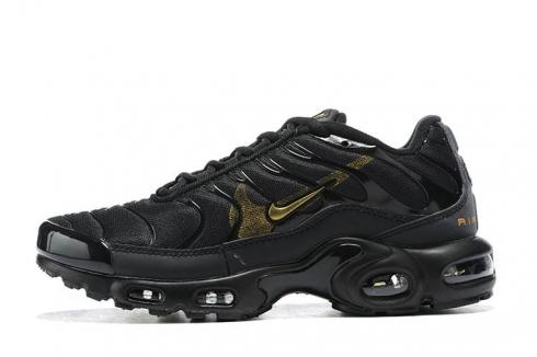 Nike Air Max Plus Black Team Gold Double Swoosh Running Shoes CU3454-007