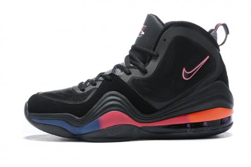 Nike Air Penny V 5 Black Peach Orange Basketball Shoes 537331-026