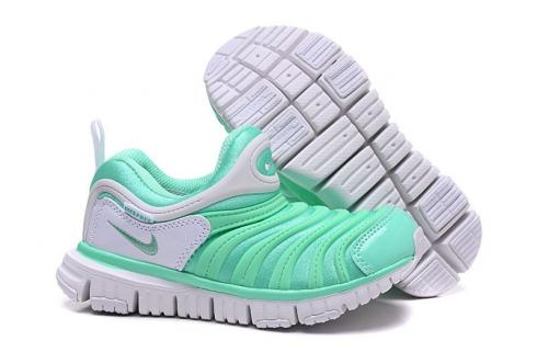 Nike Dynamo Free PS Infant Toddler Slip On Running Shoes Green White 343738-309