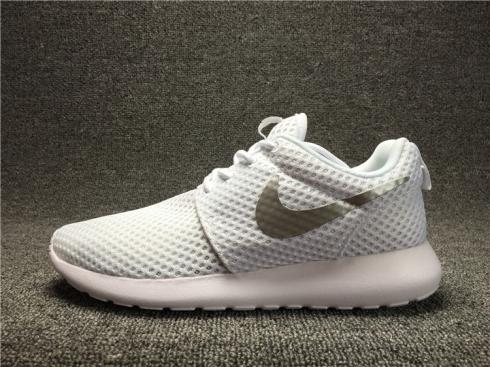 Nike Wmns Roshe One BR White Metallic Platinum Womens Shoes 724850-100