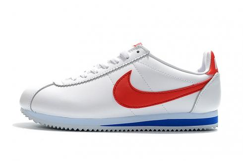 Nike Classic Cortez Nylon Prm Leather White Blue Red Casual 807471-173