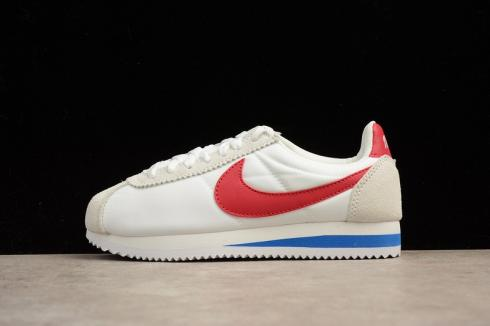 Nike Classic Cortez Sail White Red Blue Running Shoes 882258-101