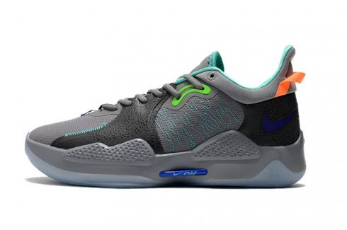 Nike PG 5 Wolf Grey Green Orange Black CW3143-930