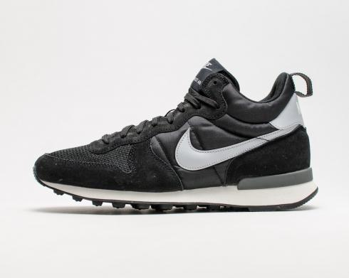 New Nike Internationalist Mid Mens High Top Trainers White Black 682844-001