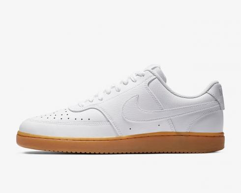 NikeCourt Vision Low White Photon Dust Gum Light Brown CD5463-105