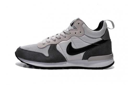 Nike Internationalist Mid Light Ash Grey Silver Black Mens Shoes 682844-002