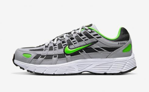 Nike P-6000 Electric Green Wolf Grey Black White Shoes CD6404-005
