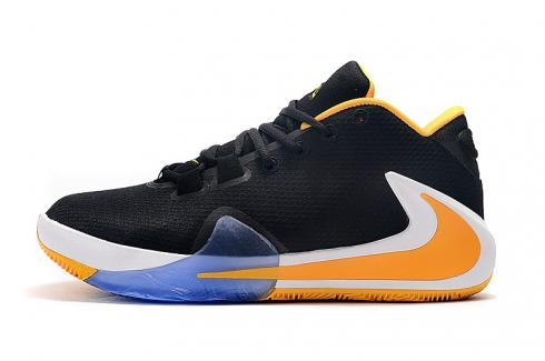 Nike Zoom Freak 1 Black Yellow White Basketball Shoes BQ5422-015