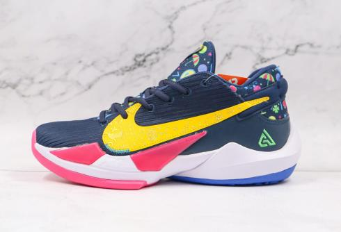 Nike Zoom Freak 2 Superstitious Midnight Navy Poison Green Fire Pink DB4689-400