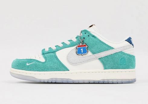 Kasina x Nike Dunk Low Road Sign Neptune Green Shoes CZ6501-101