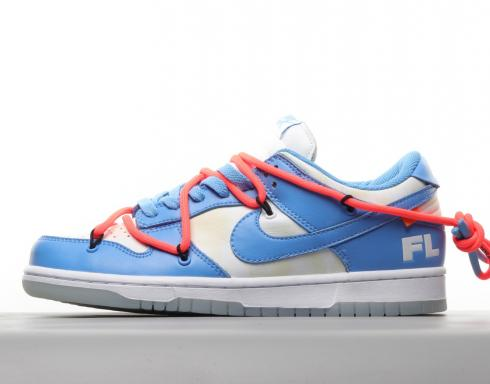 Off-White x Futura x Dunk Low SB UNC University Blue Summit White DD0856-403