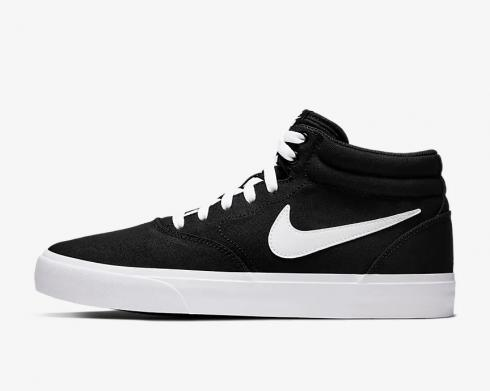 Nike SB Charge Mid Canvas Black White Shoes CN5264-001