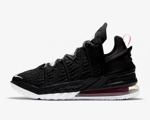 Nike Zoom LeBron 18 Black University Red White Shoes CQ9283-001