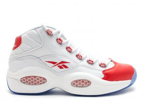 Reebok Question Mid White Pearlized Red 79757