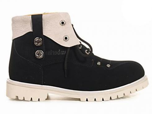 Black White Timberland 6-inch Premium Scuff Proof Boots Mens