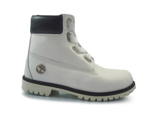 Mens Timberland 6-inch Basic Boots White Black