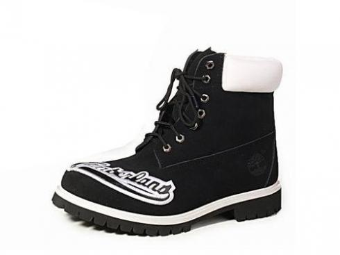 Mens Timberland Custom 6-inch Boots Black White