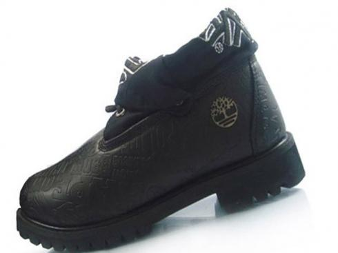 Timberland Black Smooth Roll-top Boots Mens