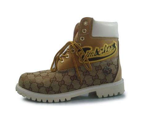 Timberland Custom 6 Inch Boots Wheat White For Men