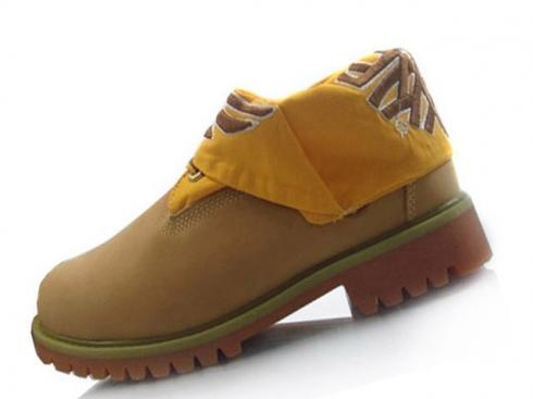 Timberland Men Roll-top Boots Yellow Brown