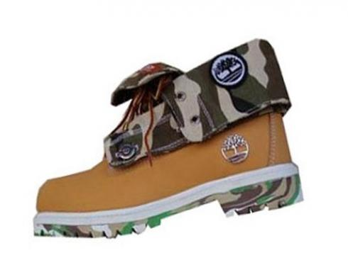 Timberland Roll-top Boots Men Wheat Navy