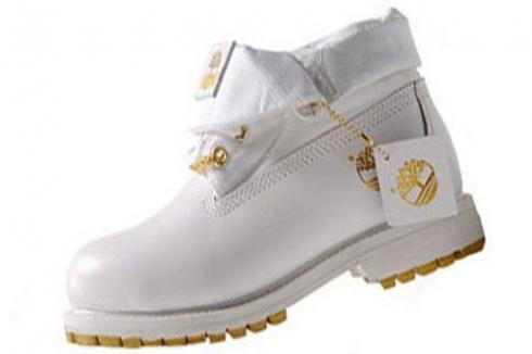 Timberland Roll Top Boots Men White