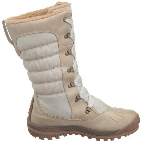 Womens Timberland Earthkeepers Mount Holly Tall Wp Faux Fur Boots Cream
